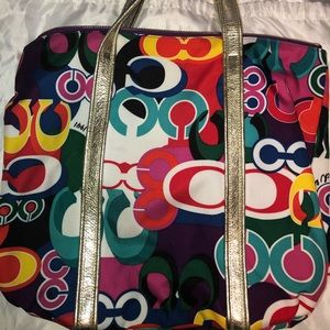 Coach Bags - Coach Poppy Graffiti Tote w/Dust Bag